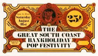 Isle of Wight Festival Ticket 1968