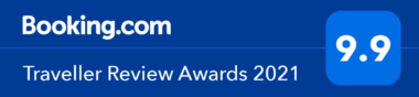 Booking.com Traveller Review Awards 2021 9.9 out of 10