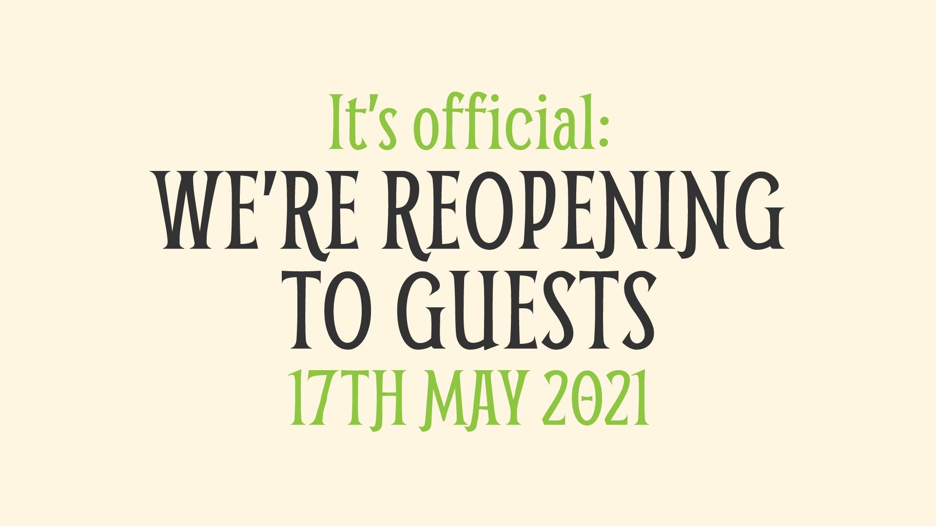 We're reopening
